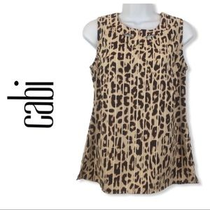 Cabi Style 3070 Ginger Leopard Print Cutout Blouse